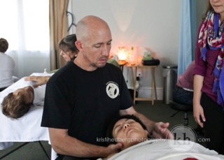 Kyle Wright Working with Client: Student Clinical Massage Therapy Clinic